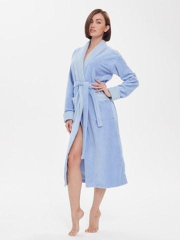 Бамбуковый женский халат  747 голубой PECHE MONNAIE Россия