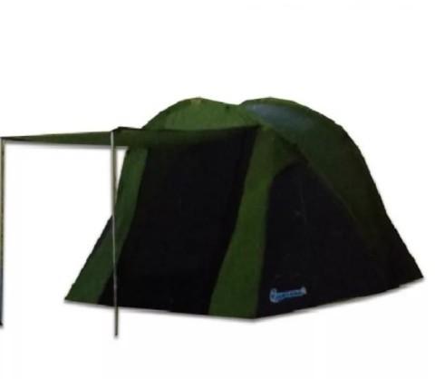 Палатка туристическая 3-х местная LANYU LY-1709 Размер 210+190 х 250 х 135 см