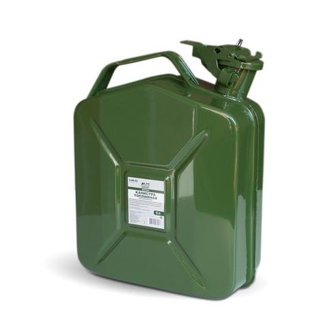 Канистра топливная металлическая вертикальная AVS VJM-05, 5л, зелёная
