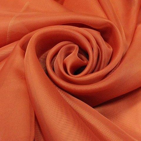 Ткань вуаль однотонная для штор - терракотовая. Ш - 300 см. Арт. -SH 42A