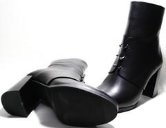 Ботильоны черные на толстом каблуке Joulie
