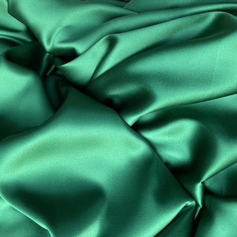 Зеленый атлас шелк