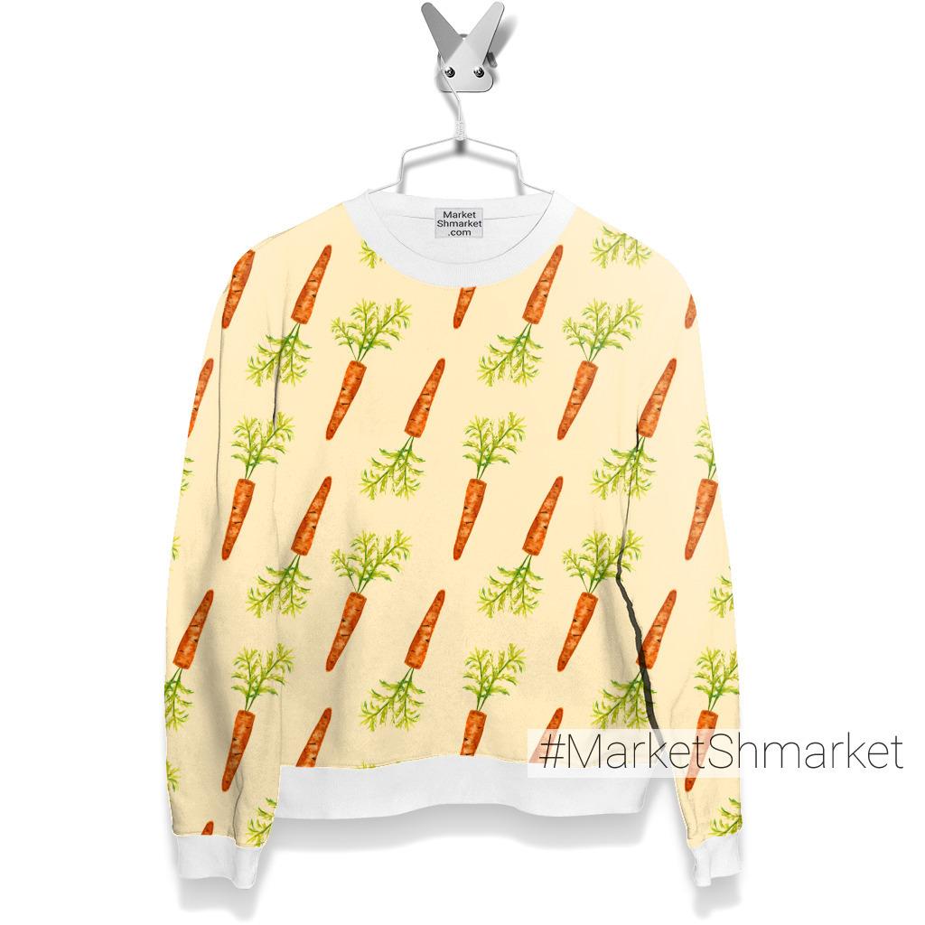 Морковки на оранжевом фоне