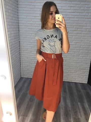 длинная юбка с ремнем купить