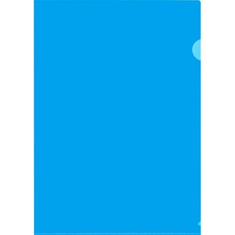 Папка-уголок A4 синяя 120 мкм (20 штук в упаковке)