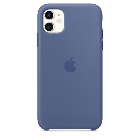 Чехол IP11 Silicone Case Linen Blue
