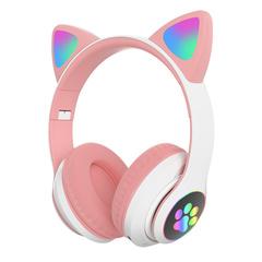 Наушники беспроводные STN-028 с ушами кошки