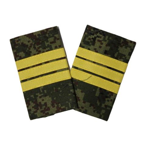 Фальшпогоны русская цифра сержант, с желтым галуном