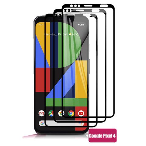 Защитное стекло 2.5d для Google Pixel 4 (Black / Черное)