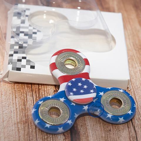 Спиннер классический из пластика с металлическими утяжелителями в цветах американского флага 17005P_usa
