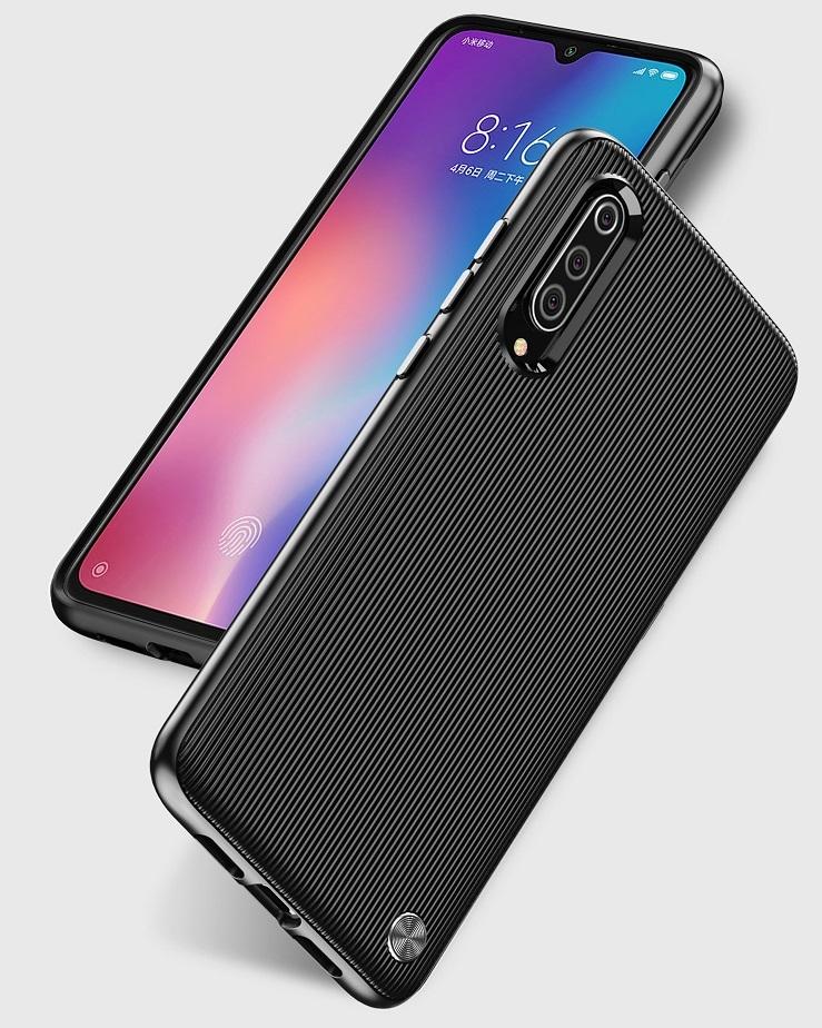 Чехол Xiaomi Mi 9 (9 Pro 5G) цвет Black (черный), серия Bevel, Caseport