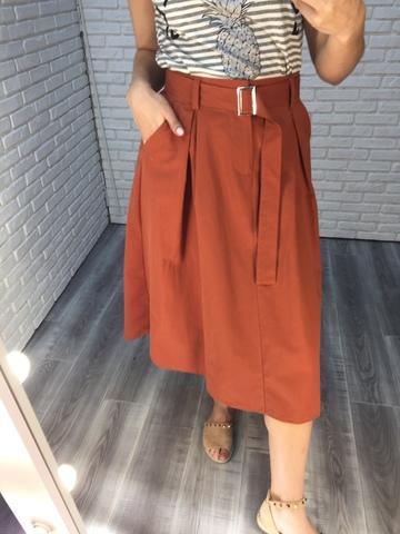 длинная юбка с ремнем недорого
