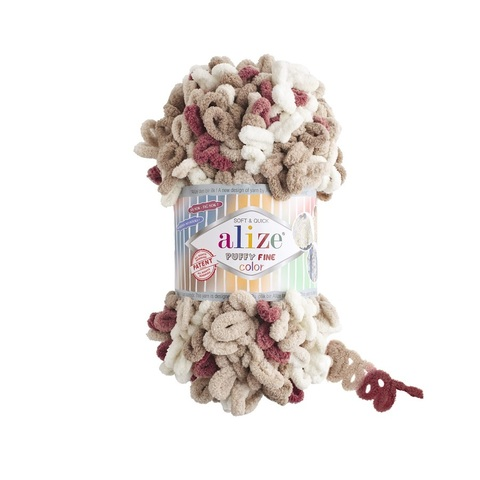 Пряжа Alize Puffy Fine Color цвет 6040