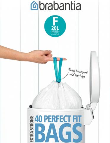 Пакет пластиковый, высокий 20л 40шт, артикул 375644, производитель - Brabantia