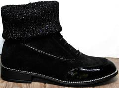 Модные женские ботинки Kluchini 5161 k255 Black