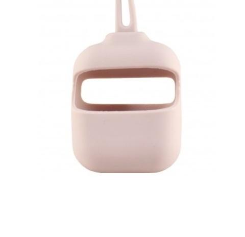 Кейс для Airpods 1/2 с шнурком | розовый песок