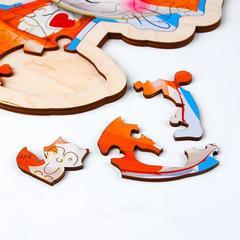 Фигурный пазл в рамке Милая лисичка, Турбо Детки