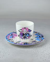 Фарфоровая чайная пара «Королева» из серии «Алиса в Стране Чудес», Россия