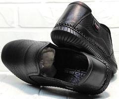 Мужской кэжуал стиль. Мягкие туфли мокасины мужские Ridge Z-291-80 All Black.