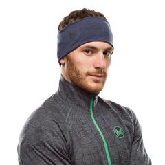Шерстяная повязка на голову Buff Headband Midweight Wool Night Blue Melange - 2