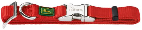 Ошейники Ошейник для собак, Hunter ALU-Strong M (40-55 см), нейлон с металлической застежкой, красный 43516.jpg