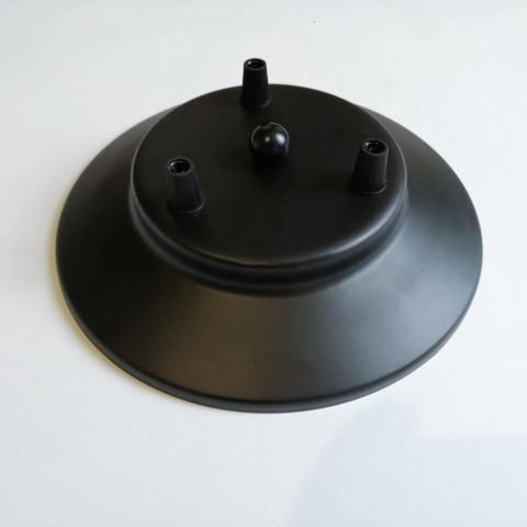 Чашка потолочная на 3 вывода (Черный)