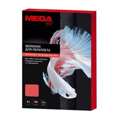 Обложки для переплета картонные Promega office А4 230 г/кв.м красные текстура кожа (100 штук в упаковке)
