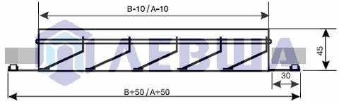 Решетка наружная алюминиевая EAL 400х200