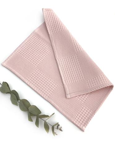 Вафельная салфетка,пыльно-розовый,35х35 см