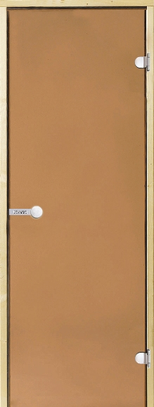 Дверь Harvia STG 8×19 коробка сосна, стекло бронза, фото 1