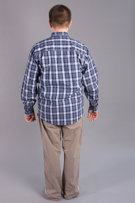 Лекала мужской рубашки вид сзади
