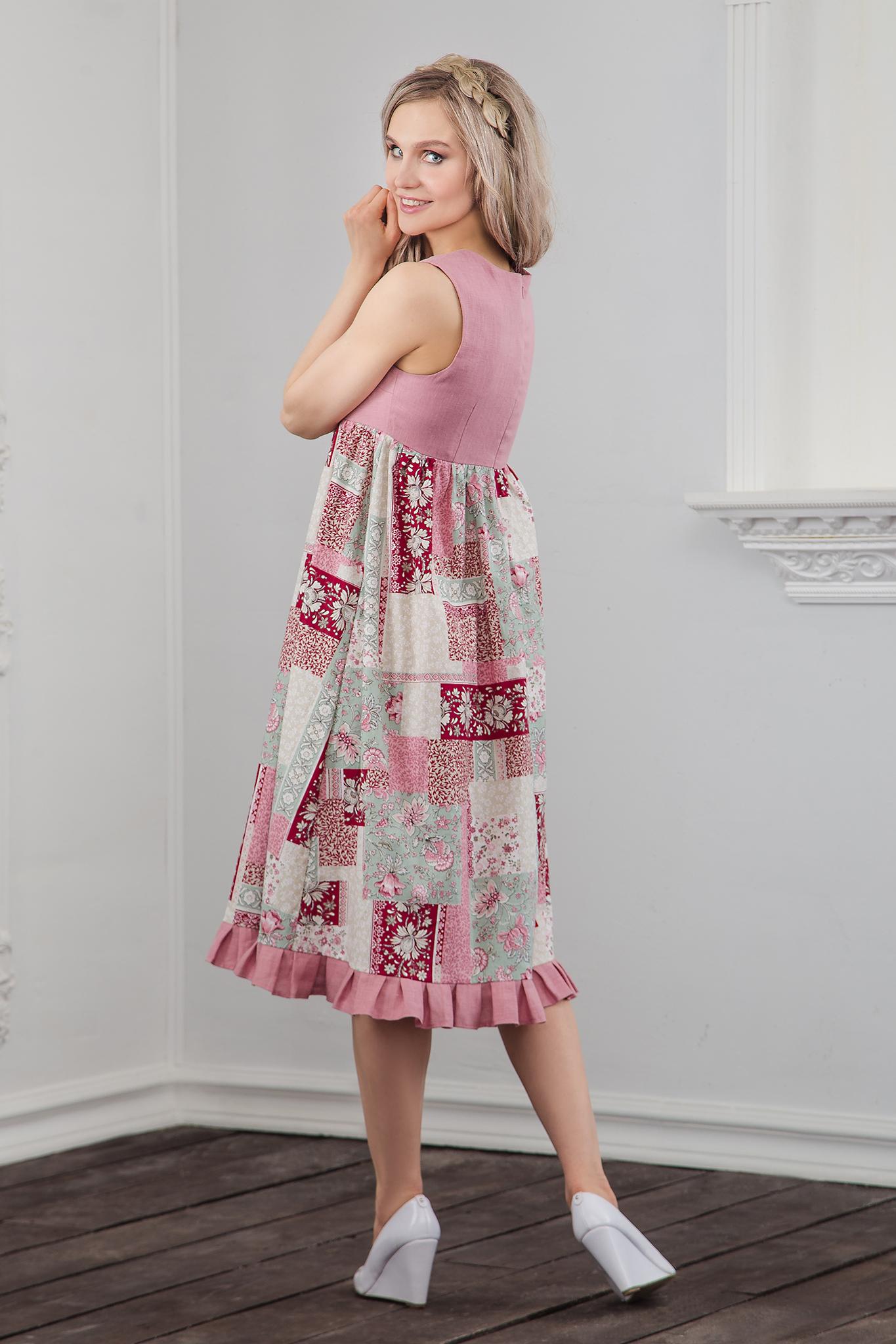 Вид сбоку Платье Пэчворк