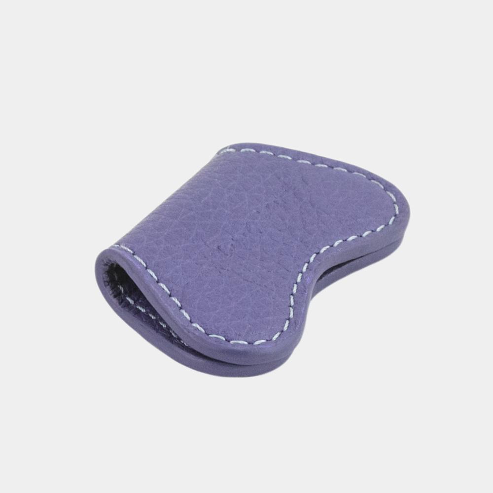 Чехол-держатель для наушников Papillon Easy из натуральной кожи теленка, цвета сирени