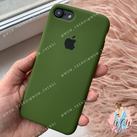 Чехол iPhone 7/8 Silicone Case /olive/ оливка 1:1