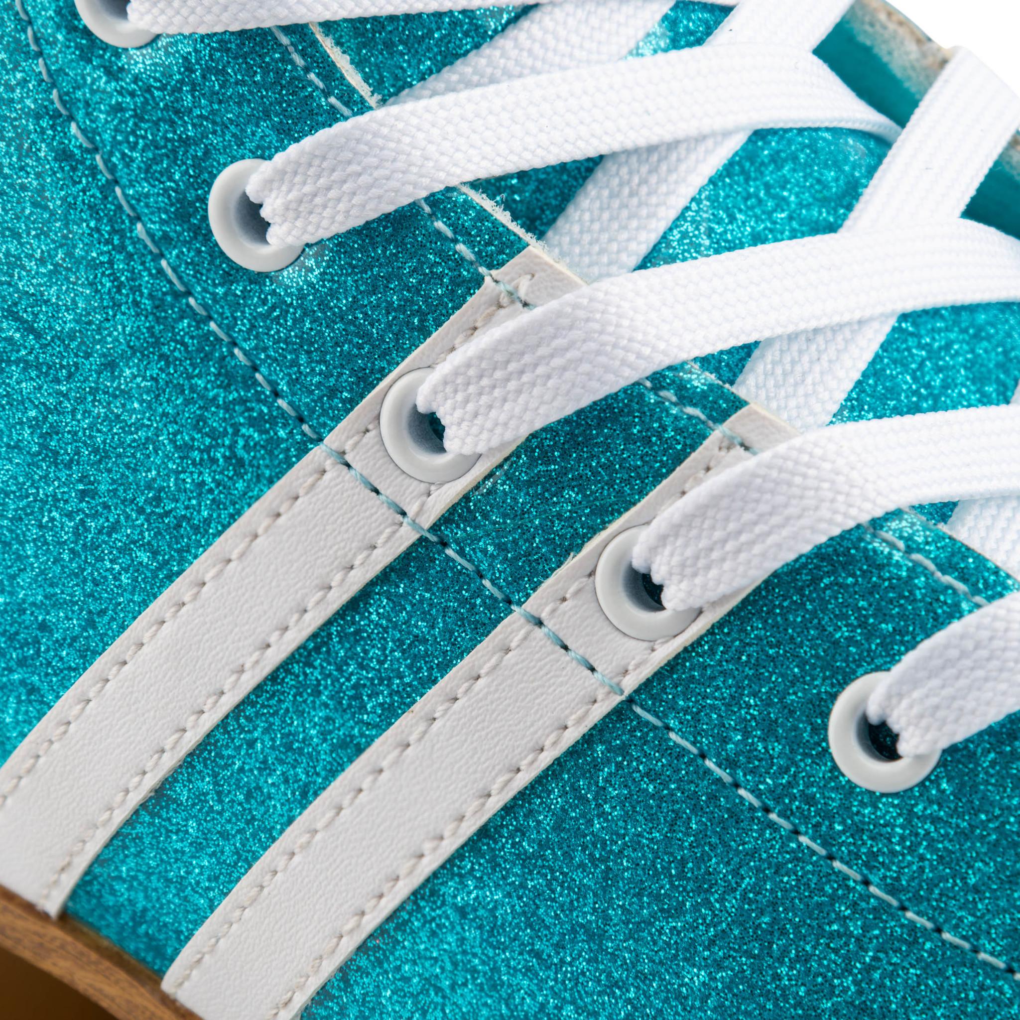 Ролики Квады Osprey Quad с высоким ботинком, голубые с глитером