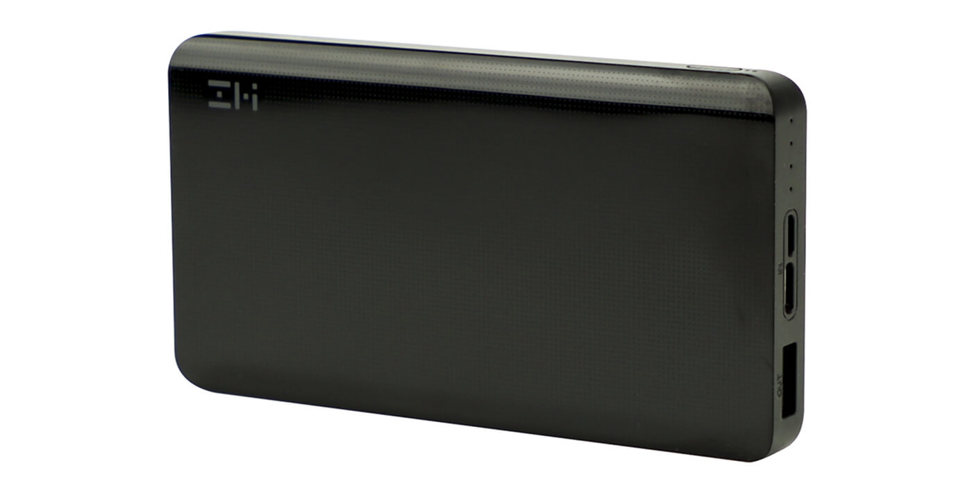 Внешний аккумулятор XIAOMI ZMI Power Bank 10000 mAh (черный)