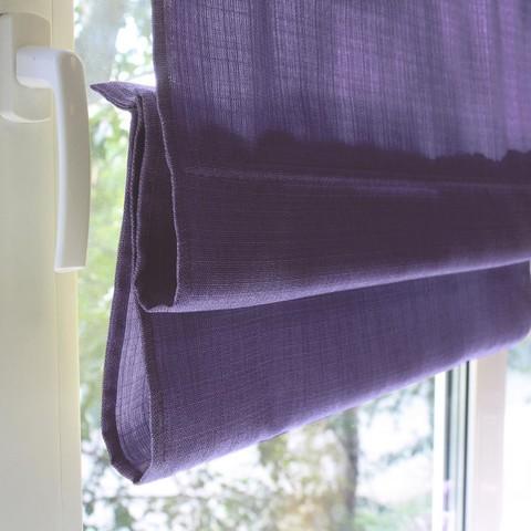 Римская штора под лен Тонни фиолетовый