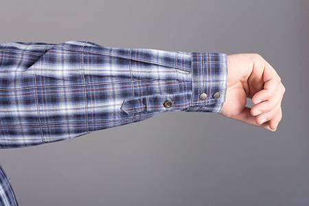 Лекала мужской рубашки с манжетами на пуговицах