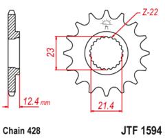 Звезда передняя JT F 1594.15 Yamaha XT XG 250