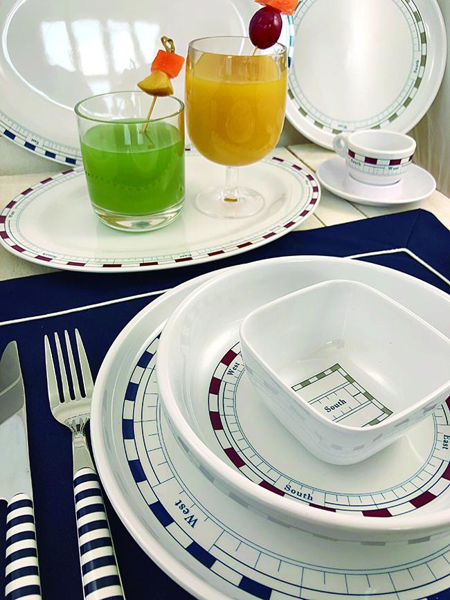 MELAMINE NON-SLIP DINNER PLATE, MISTRAL 6 UN