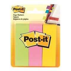 Клейкие закладки Post-it Original бумажные 3 цвета по 100 листов 25x76 мм