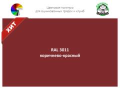 Цвет полимерного покрытия RAL 3011 красно-коричневый   АЙГРЯДКИ!