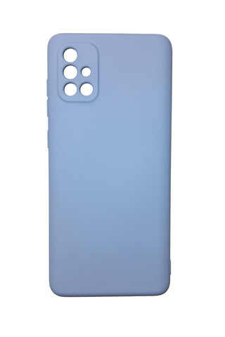 Чехол для Samsung (A715) Galaxy A71 Софт тач мягкий эффект   микрофибра светло-фиолетовый
