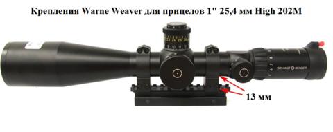 КРЕПЛЕНИЯ WARNE WEAVER ДЛЯ ПРИЦЕЛОВ 1