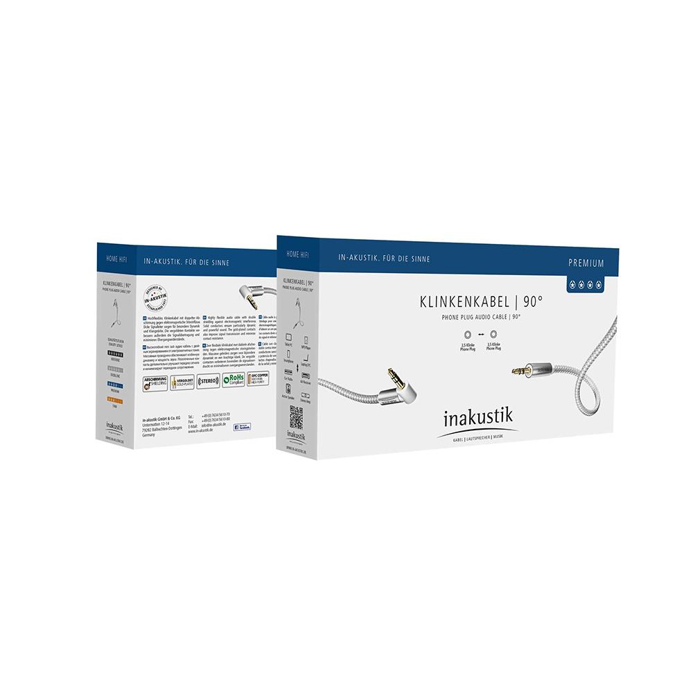 Inakustik Premium MP3 Audio Cable 90°, 3.5 Phone plug