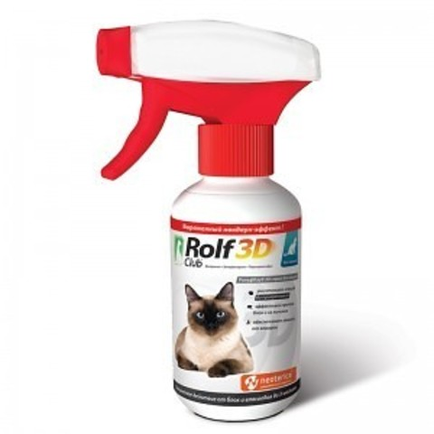 Рольф Club ( Рольф Клуб) 3D спрей для кошек 200 мл.
