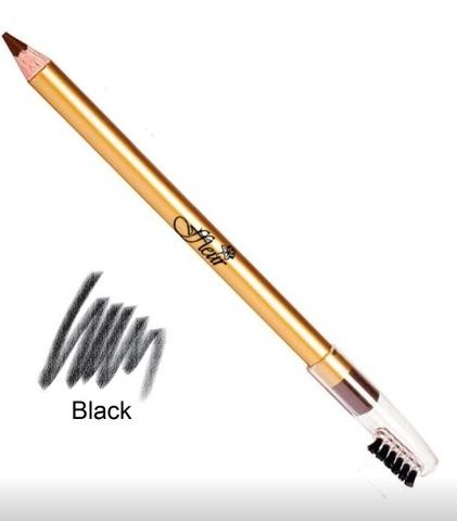 FFleur карандаш ES 7616 ЧЁРНЫЙ для бровей с расчёской