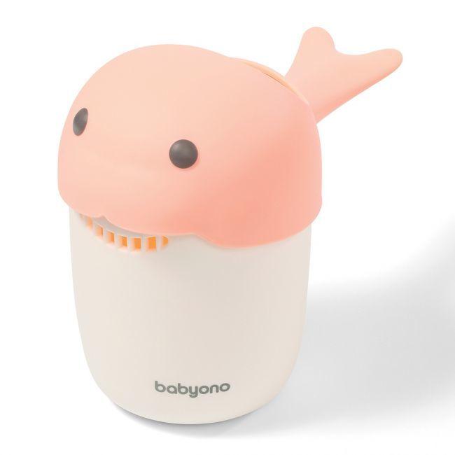 BabyOno - Кружка для ополаскивания WHALE, розовая