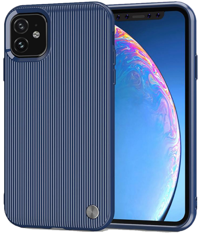 Чехол для iPhone 11 цвет Blue (синий), серия Bevel от Caseport