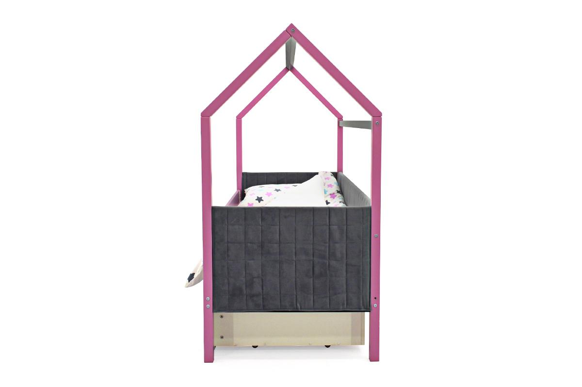 Кровать-домик мягкий «Svogen лаванда-графит»